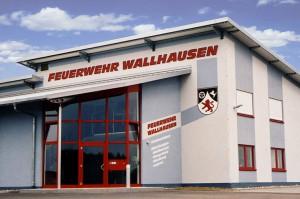 Komplette Außengestaltung der Feuerwehr Wallhausen.