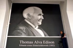 Porträt des Erfinders und Unternehmers Thomas Alva Edison.